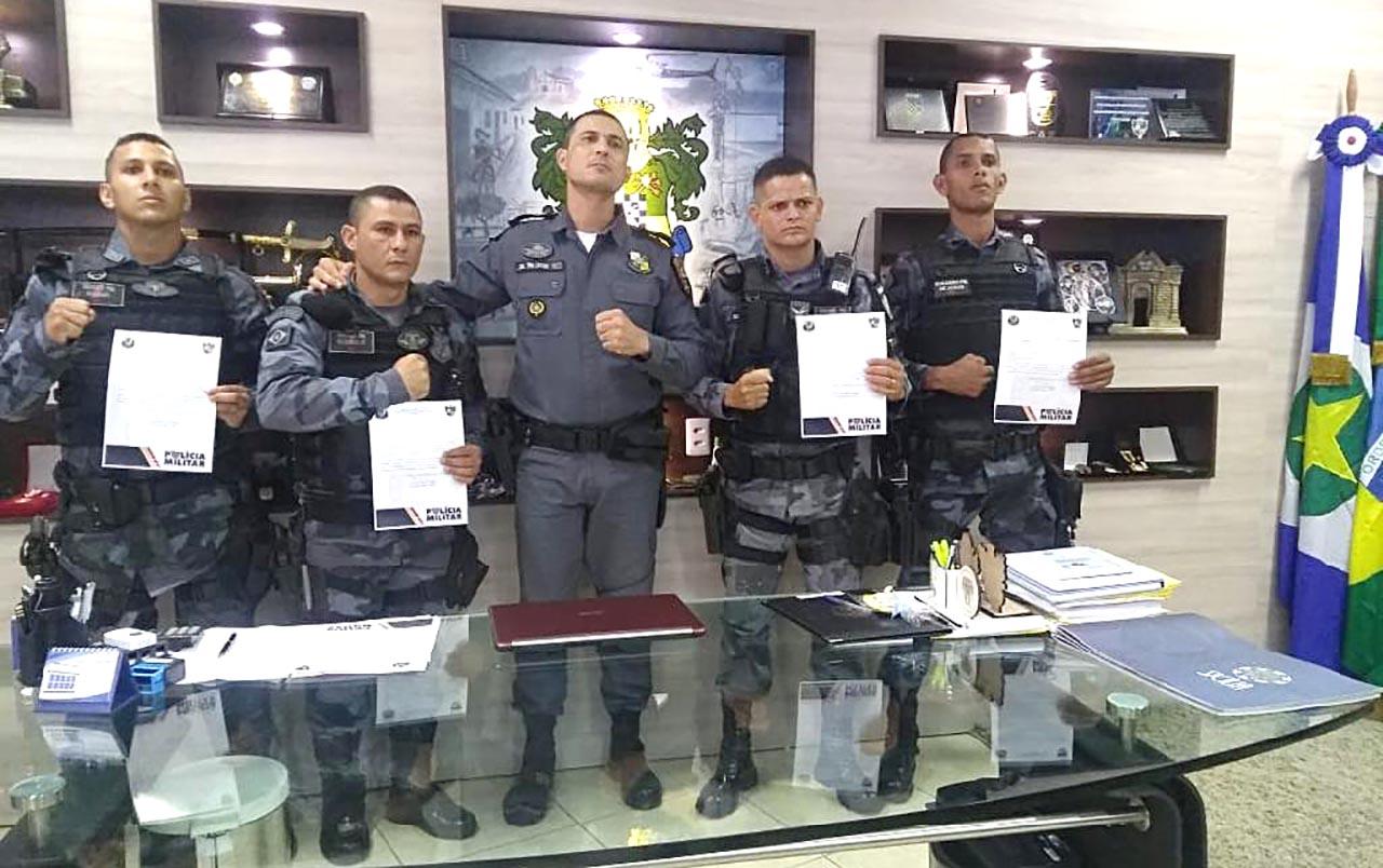 Comando-Geral presta elogio a policiais